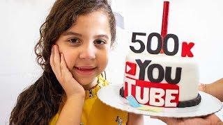 COMEMORANDO 500 MIL INSCRITOS - Sarah de Araujo