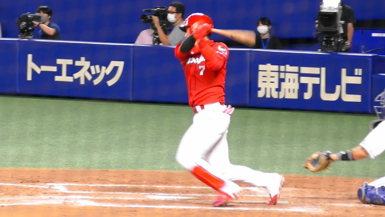 堂林翔太 タイムリーヒット@ナゴヤドーム三塁側 20200712