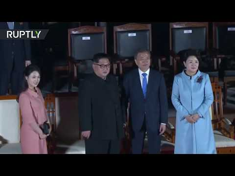 Kim and Moon attend farewell ceremony as historic summit concludes