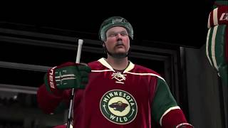 NHL 10 - Wild vs Canucks Gameplay Period 1