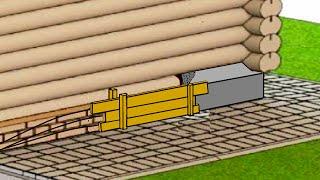 видео Укрепление, усиление и ремонт фундамента бани