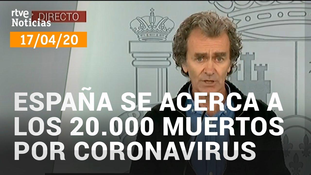 Coronavirus: España se acerca a los 20.000 fallecidos, y más de 185.000 casos de la COVID-19
