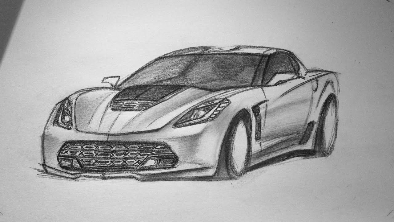 2015 chevrolet corvette c7 z06 sketch youtube
