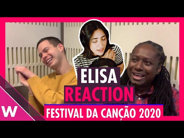 Elisa - Medo de Sentir REACTION | Festival da Canção (Portugal Eurovision 2020)