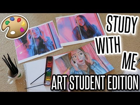 VLOG: Study With Me - Arts Student Edition! | BeautySpectrum