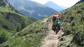 Transalp Albrecht Route mit drei Kindern Garmisch Fimberpass Riva 2014