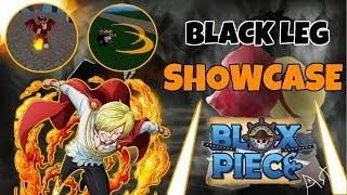(ROBLOX) BLACK LEG FULL SHOWCASE BLOX PIECE