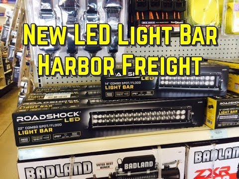 New Harbor Freight Led Light Bar Review Roadshock 3000 Lumens 14 In Combo Light Bar 64321 Youtube