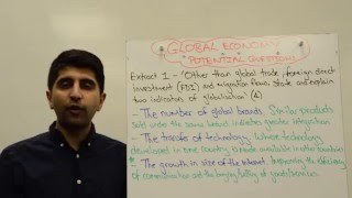 Extract 1 - 4 Marker - Indicators of Globalisation - OCR Global Economy F585