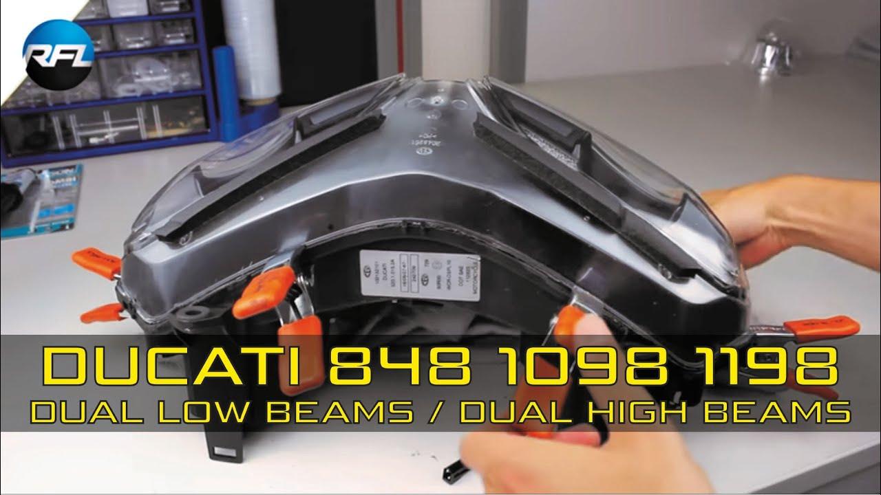 ducati 848 1098 1199 mini h1 bi xenon projector retrofit. Black Bedroom Furniture Sets. Home Design Ideas