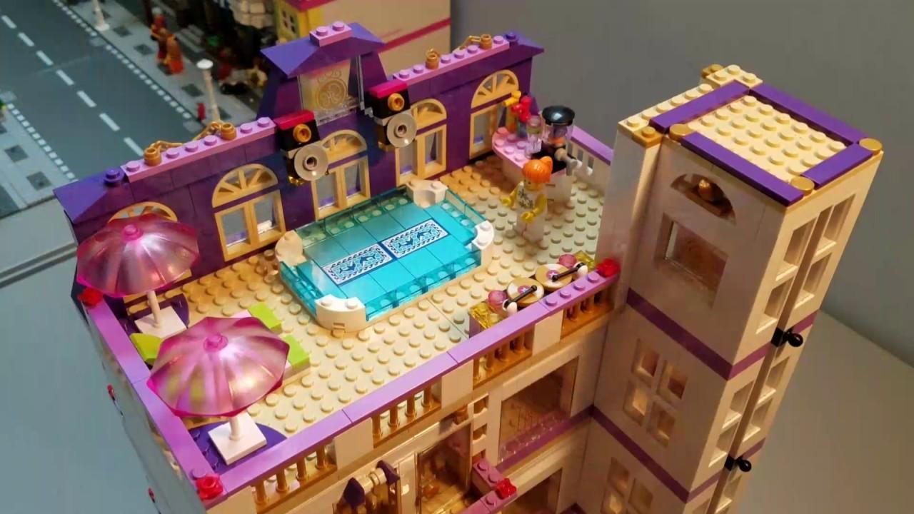 Lego Custom Modular Grand Hotel Youtube