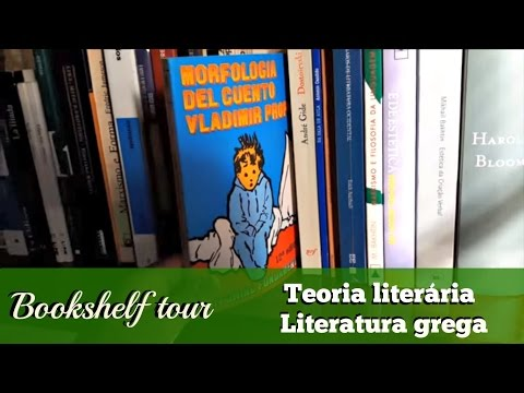 Bookshelf tour: literatura grega e teoria literária | 2016