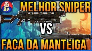 Fallout 4 Gauss Rifle VS Combat Knife - QUAL A MELHOR ARMA!