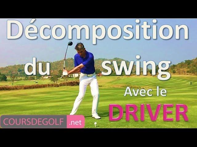 Décomposition du swing avec le driver. Cours de golf gratuit proposé par Renaud Poupard