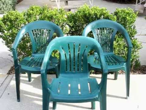 Budget garden howto restoring those basic plastic patio chairs on the cheap youtube Painting plastic garden furniture