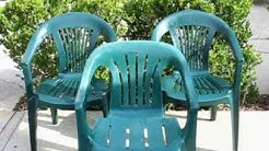 Budget Garden HowTo - Restoring those basic plastic patio chairs on the cheap