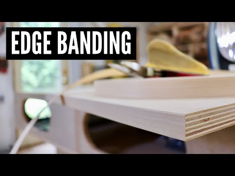 How To Apply Edge Banding // WOODWORKING TIPS