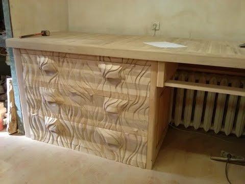 Выдвижные шкафы, резьба болгаркой, мебель из дерева, мебель в плотню продолжение