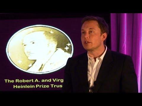 Elon Musk receives the Heinlein Prize Award 2011