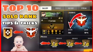 Free Fire || Top 10 Solo Rank Push Tips and Tricks Free Fire -4G Gamers