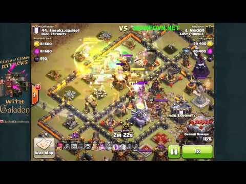 Top 3 trận đánh clans War đập nát hall 11 hay nhất clash of clans