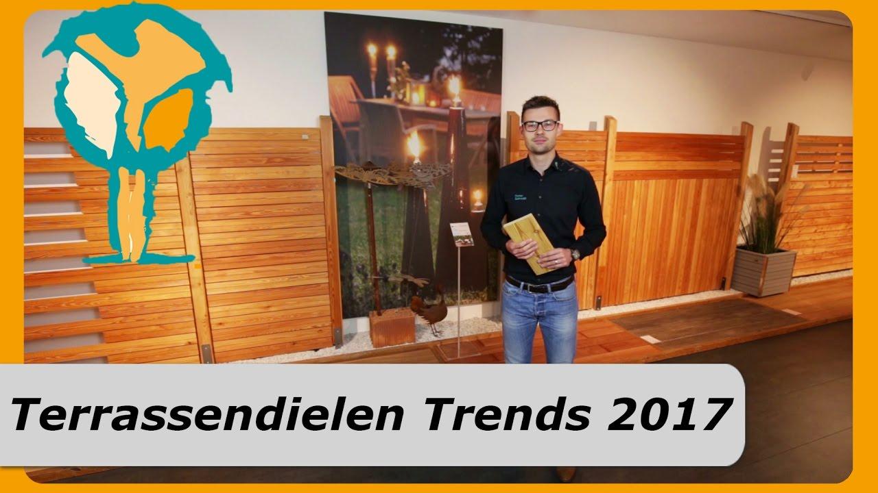 Terrassendielen Trends 2017 - Terrassenbelag Holz & WPC Dielen - YouTube