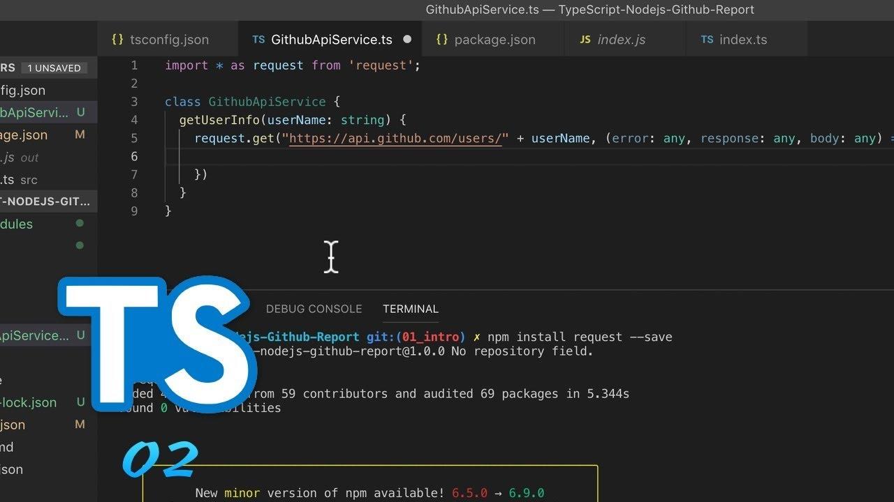 TypeScript + Node js 实战 GitHub API #2 安装依赖和发送 API 请求