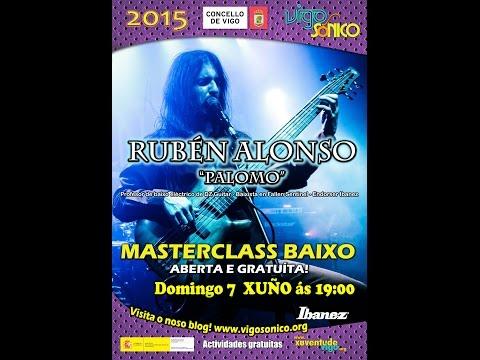 """Master Class baixo eléctrico: Rubén Alonso """"Palomo""""."""