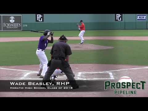 Wade Beasley Prospect Video, RHP, Horatio High School Class of 2018