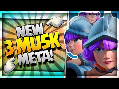 INSANE 71% WIN RATE DECK - New 3 Musketeer Meta!! Clash Royale Top Ladder & Challenge Strategy
