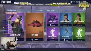 Streamers react to new Synth star and Stage slayer skins!! (Fortnite Battle Royale)