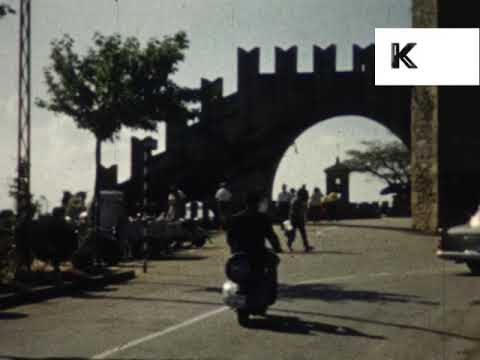 1950s 1960s Itlay, San Marino, Unseen Colour Home Movies