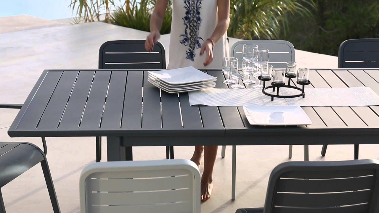 Collection Mobilier de Jardin 2016 Hyba chez Carrefour  La ligne Alu 152  YouTube