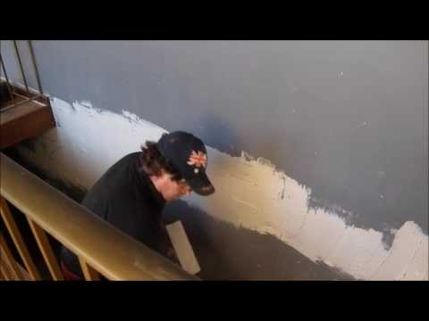Floating  a Section of  Uneven  Wall ~ Hawthorn Plaster Repairs