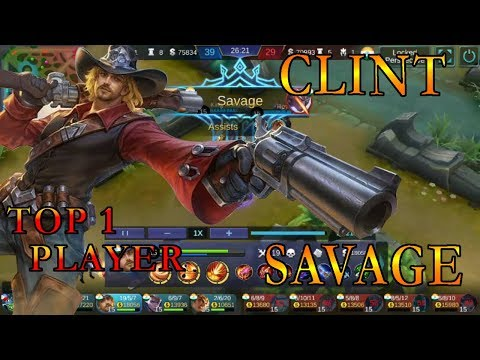 CLINT SAVAGE - MUST WATCH [INDIA] BEST BUILD MOBILE LEGEND