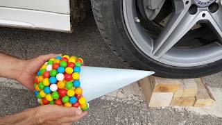 Super GUM Sugar VS Car MERCEDES Test, & Crushing Crunchy Soft Things by Car MP3