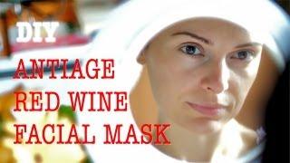 DIY Homemade wine facial mask anti age for instant glow - Maschera facciale anti-età al vino