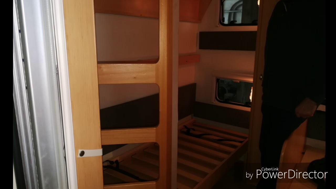 Wohnwagen Mit 3er Etagenbett : Wohnwagen umbau er auf stockbett hobby kmfe youtube