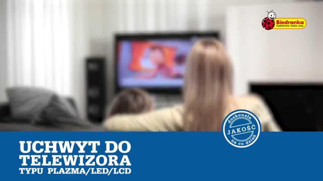 biedronka prezentuje uchwyt do telewizora typu plazma led lcd youtube. Black Bedroom Furniture Sets. Home Design Ideas