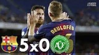 Barcelona 5 x 0 Chapecoense - Gols & Melhores Momentos (Troféu Joan Gamper 07/08/2017)