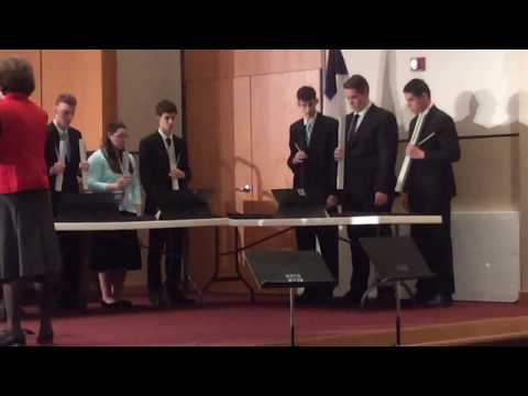 """I Love You, Lord"" played by Utica Christian School Senior High Handbell Choir {WACS Academic Meet}"