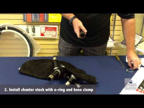 Lothian Bagpipes - How To Install - Canmore Hybrid Pipe Bag