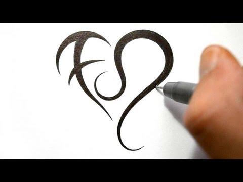 How to Draw a Heart with Zodiac Symbols