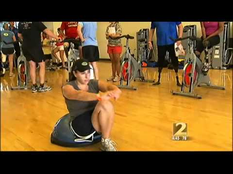 Amputee athletes train