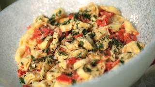 Tortellini W/ Smoked Salmon, Crème Fraîche Recipe || Kin Eats