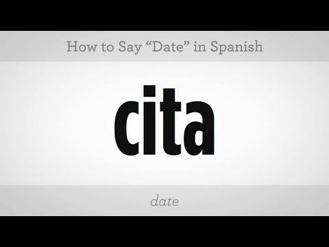 How to say dating site in spanish