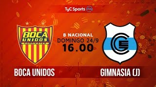 Boca Unidos vs Gimnasia J full match