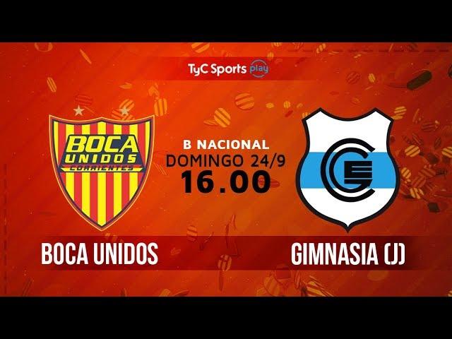 Mira en vivo Boca Unidos vs Gimnasia de Jujuy
