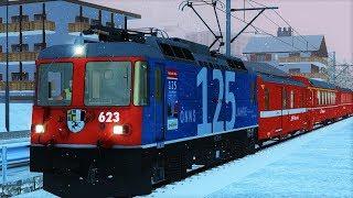 Rhb Heidi-Express | Bernina Express Zubringer | RhB Ge 4/4 II | Simtrain.ch | Train Simulator 2018