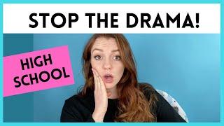 AVOIDING DRAMA IN HIGH SCHOOL! (How to avoid drama in high school)